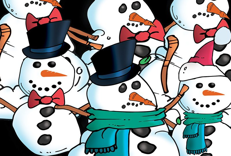 38 Christmas Snowmen Graphics Package