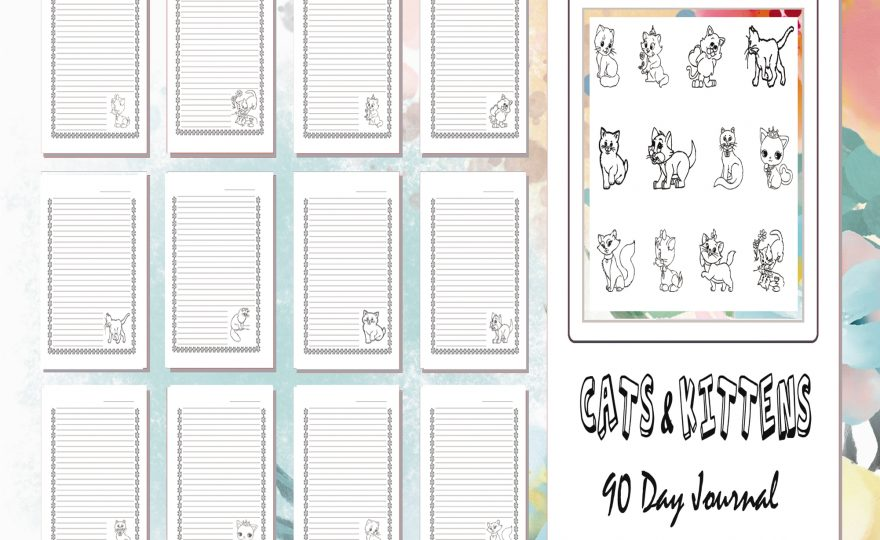 KDP POD Cats and Kittens Undated 90 Day Journal