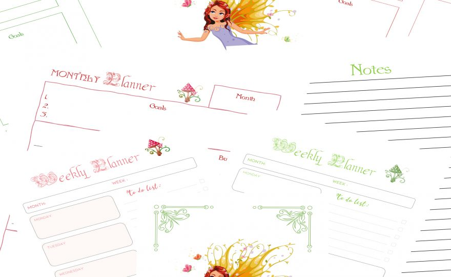 KDP POD Fairy Planner Journal 3 Interior Pack