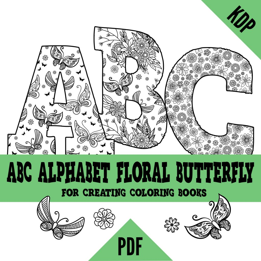 ABC Alphabet with Floral Butterfly