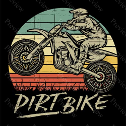 Retro Dirtbike Sunset Print On Demand Package