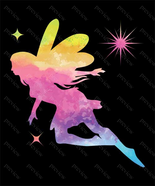 Fairy Tie Dye Watercolor Print On Demand Design