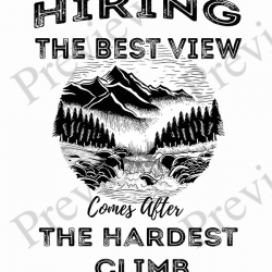 Hiking-the-best-view-black-text preview