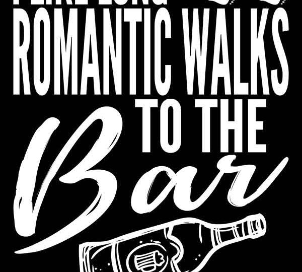 Romantic Walks To The Bar Print On Demand Package