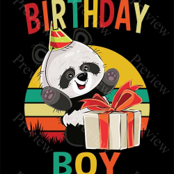 Panda Birthday Boy Print On Demand Package