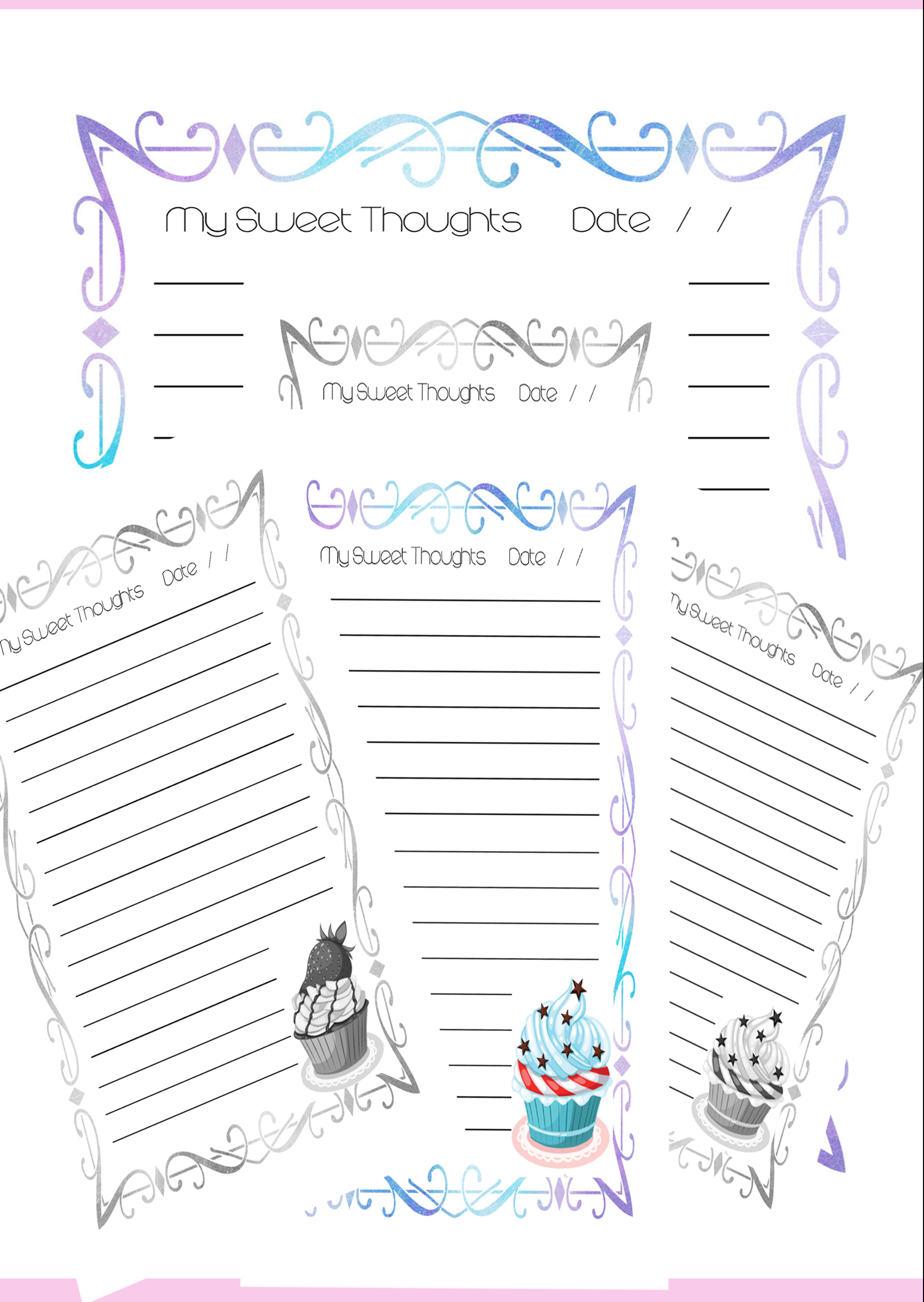 Sweet Thoughts Cupcake Journal