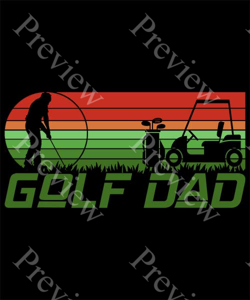Retro Golf Dad Print On Demand Package
