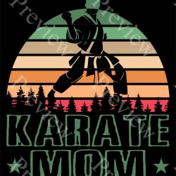 Retro Karate Mom Print On Demand Package