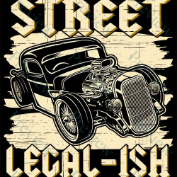 Hot Rod Street Legal-ish Print On Demand Package