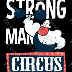 Circus Strong Man Print On Demand Package