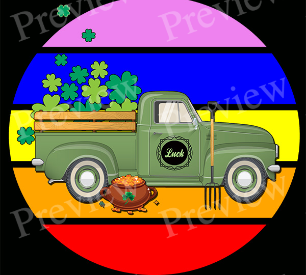 Luck Truck St. Patrick's Day Print on Demand Package