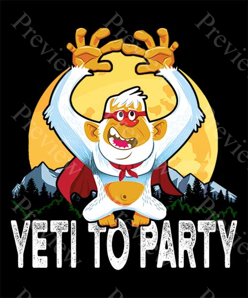 Yeti To Party Print On Demand Package