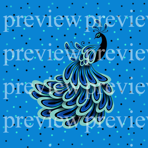 10 Peacock Pops Print On Demand Package